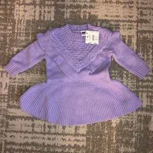 NWT Knit sweater dress in lilac Janie / Jack 6-12M